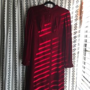 Dresses & Skirts - VINTAGE 1960s red velvet dress